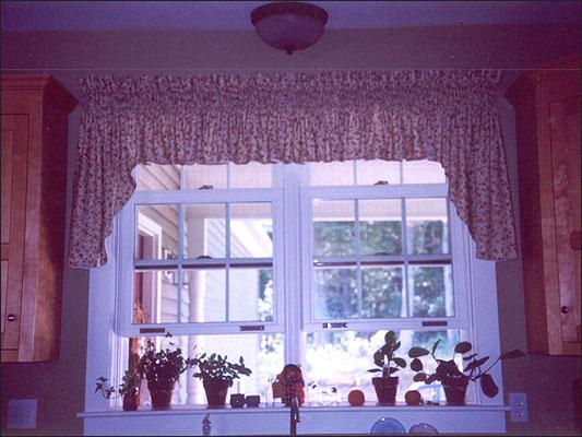 On Double Window, Custom Length Standish Swag On Double ...