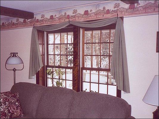 3 Panel Window Curtains